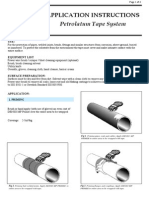 Application Instructions Petrolatum Tape System