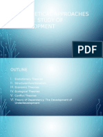 Theoretical Approaches to the Study of Development2