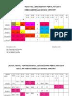 Jadual Waktu Induk Kelas Pendidikan Pemulihan 2014