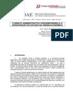 Direito Administrativo Contemporaneo e a Intervenção Do Estado Na Ordem Econômica