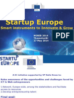 Startup Europe Instruments for Growth_RO