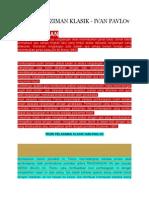 Bab 3teori Pelaziman Klasik Ivon Pavlo Dan Skinner, Watson