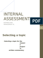 Ib Internal Assessment b m1