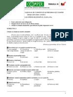 Subiect Si Barem LimbaRomana EtapaI ClasaII 11-12