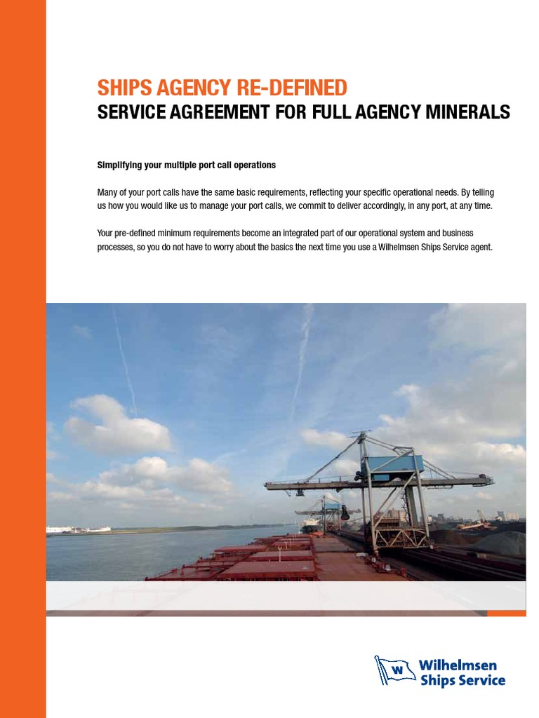 Ships Agency Flyers Minerals Lowres | Cargo | Shipping
