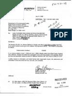 Murphy Oil EDMS 42728461 dated 07_31_2009 Hydrocracker shutdown May 24 2009 42728461