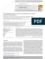 A Thermodynamic Analysis of Solid Waste Gasification in the Plasma Gasification Melting Process