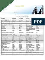 Final Delegate List for Website to Be Work......
