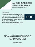 Pengobatan Hemoroid Tanpa Bedah
