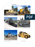 Equipment Used for Laying Acp and pccp