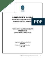 Online Guide for UTP registration