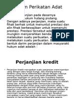 Hukum Perikatan Adat