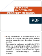 Selecting Thermodynamic Property in HYSYS