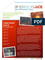 Adventure Camp Brochure