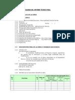 Esquema Del Informe Técnico Final