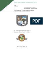 Sílabo Investigación i - Aqt - 2 013- i - Barranca - Unasam - Fiia