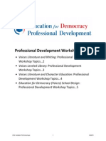 Education for Democracy Institute Professional Development Workshops