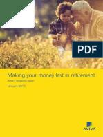 Making Your Money Last in Retirement - Aviva's Longevity Report