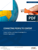 (2015) APQC - Connecting People to Content Report