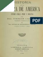 Historia de La Guerra Entre Peru - Chile - y - Bolivia - Tomo I - Tomas Caivano