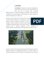 Historia Del Canal de Panamá Trabajo Omar