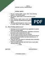 UNIT-4 Working Capital Management