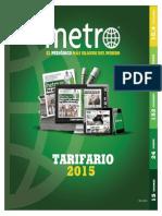 Tarifario METRO-2015