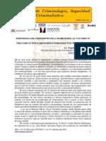 Bienvenida del presidente de la SOMECRIMNL al volumen III