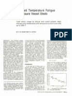 Elevated Temperature Fatigue of Pressure Vessel Steels