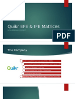 Quikr EFE & IFE Matrices