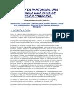 El Mimo y La Pantomima Unidad Didactica Completa de Expresion Corporal