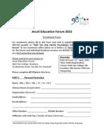 Jesuit Education Forum_Enrolment Form (Eng) 2015 01 21