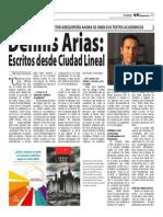 Dennis Arias en el semanario VP