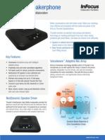 InFocus Thunder Speakerphone Datasheet