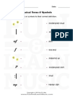 Music Worksheets Musical Terms and Symbols 005