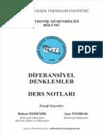 Diferansiyel Denklemler - Gebze Teknik Üniversitesi Defter Notları
