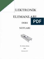 Elektronik - Dr. Serkan Aksoy Elektronik Elemanlar Ders Notları