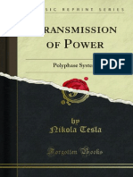 Transmission of Power - Nikola Tesla
