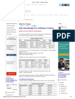 SQL For Testers ~ Software Testing