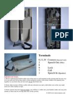 Urmet 1130 Intercom Handset Sheet