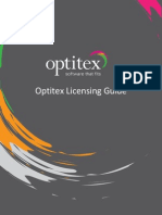 Optitex Licensing Guideq