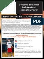 DeMatha DVD Workouts Strength Power