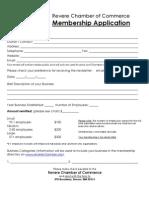 Revere Chamber 2010 Application