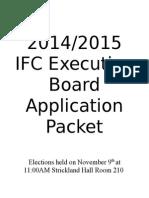2014 2015 IFC Executive Board Application 1