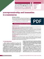 Entrepreneurship and Innovation in E-commerce