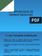 LA RÉPUBLIQUE DE WEIMAR MENACÉE