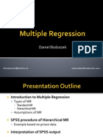 Multiple Regression - D. Boduszek