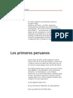 Enciclopedia de Ciencias - Los primeros peruanos