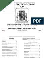 Catalogo de Servicios de Laboratorio 2014 v1