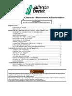 Manual de Instalación, Operación y Mantenimiento de Transformadores